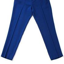 Joie Cobalt Blue Tapered Leg Cropped Crepe Trouser Sz 6 Photo