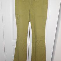 Joie Cotton Green Grunge Pants---26 Photo