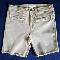 Joie Cutoff Shorts Nouveau Beige Denim Stretchy 26 High Rise Photo