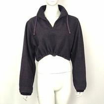 Joie De Vivre Purple Cropped Sweatshirt Size 10 Photo