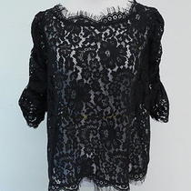 Joie Fanny Lace Top Black Size Large 228 Gently Worn Photo
