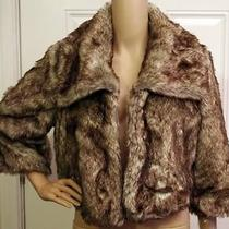Joie Faux Fur Cropped Jacket Designer High End Size Large Photo