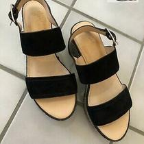 Joie Galica Flatform Wedge Sandal Black Wedges Size 36 Us 6 Nwob Photo