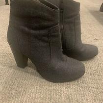 Joie Gray Flannel Booties Size 38 7.5 Heel Euc Photo