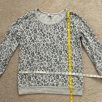 Joie Gray Leopard Print Supersoft Sweatshirt - Size Xs Photo