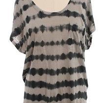 Joie Grey Navy Tie Dye Front Patch Pocket Linen T Shirt Sz S Photo
