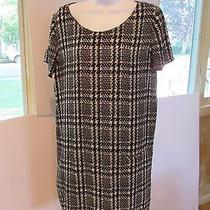 Joie Houndstooth Dress Size M Black and White Photo