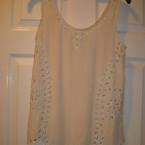 Joie Ivory Silk Beaded U-Neck Tank Top Shirt Size Xs Gorgeous 258 Photo