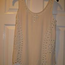 Joie Ivory Silk Beaded U-Neck Tank Top Shirt Size Xs Gorgeous 258 Photo