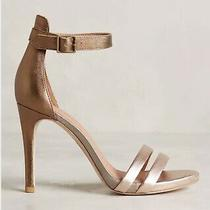 Joie Jena Heels Sandals Size 38.5 Pewter Leather Photo