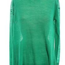 Joie Kelly Green Pleat Back Flared Long Sleeve 100% Alpaca Sweater Sz S Photo