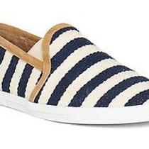 Joie Kidmore Stripe Canvas Slip-on Sneakers Navy Size 39 Photo