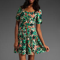 Joie Lanelle Abstract Floral Dress Green Vintage Joie Like New Condition Xs Photo