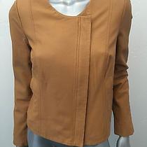 Joie Leather Jacket Cognac/ Brown Size M Photo