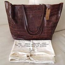 Joie Mahogany Leather Tote 335 Retail Photo