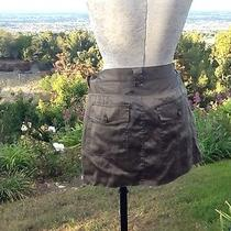 Joie Mini Skirt 100%Silk Green 10 Photo