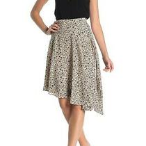 Joie Moni Printed High-Low Asymmetrical Skirt Frappe 4 Nwt 228 Photo