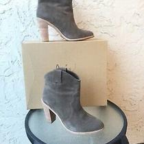 Joie Monty Light Brown Bark Suede Boots Booties Sz 8.5 Western Inspired Photo