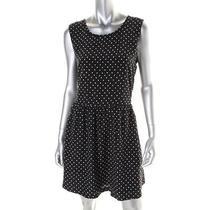 Joie New L1869808 B/w Silk Polka Dot Knee-Length Wear to Work Dress L Bhfo Photo