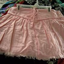 Joie Nwt Size 8 Mini Antique Pink Linen Cotton Skirt  Photo