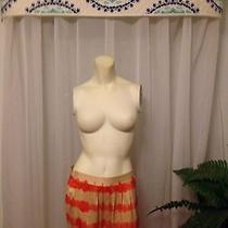 Joie Orange Tie Dye Striped Silk Skirt Sz S Photo