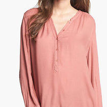 Joie Pink Tamarine Twill Top Women Top Size S Photo
