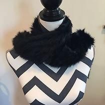 Joie Rabbit Fur Scarf New Gorgeous Photo