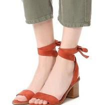 Joie Revolve Mamie City Sandal Ankle Wrap Nib Size 35 / Size 5 Burnt Ochre Suede Photo