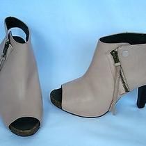Joie She's Electric Elephant Pink Leather Peep Toe Ankle Booties 37.5  Photo