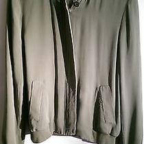Joie Silk Bomber Jacket Green Size S Photo