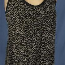 Joie Silk Leopard Print Racerback Tank Top Shell Shirt Size Xs Photo