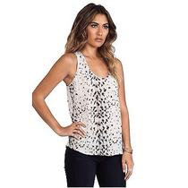 Joie Snow Leopard Silk Tank Photo