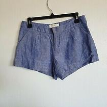 Joie Sz 2 Shorts Chambray Casual Blue Short Shorts Trouser Style Photo