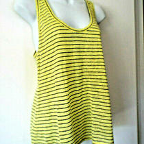 Joie Sz M Knit Tank Top Yellow Stripe Photo