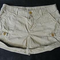 Joie Tan Cotton Shorts 2 Photo
