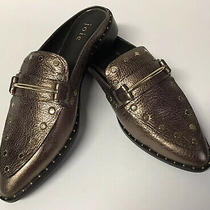 Joie Taran Mules Shoes Womens Size 38.5/8.5 Bronze Gold Studs New Photo
