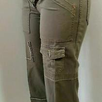 Joie Utility Cropped Women's Pants Regular Army Green Hip Hop Military Size 28 Photo