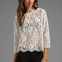 Joie White Lace Top Photo