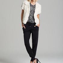 Joie White Rabbit Fur Coat  Photo