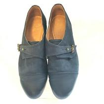 Joie Winds of March Low Heel Loafer Blue Leather Women's Classic 37 1/2 Photo