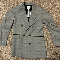 Joie Womans Coat Blazer Stlye Glen Plaid White/black Nwt Size 4 Tomika Photo