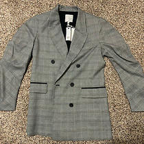 Joie Womans Coat Blazer Stlye Glen Plaid White/black Nwt Size 4 Tomika Photo