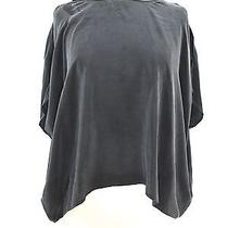 Joie Women Black Silk Open Cut Out Shoulders Loose Fit Blouse Top Shirt Size Xs  Photo