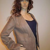 Joie Women's Leather Jacket Blazer Taupe Size L Nwt 788.00 Photo