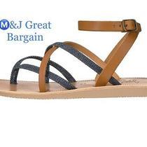 Joie Women's Oda Flat Sandal Denim-Cuoio Size Eur 35 Us Size 5 Photo