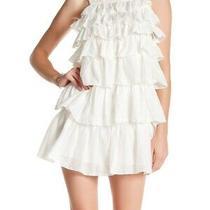 Joie Women's Shift Dress White Ivory Size 2 Tiered Ruffle Silk 278- 684 Photo