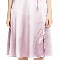 Joie Women's Skirt Lilac Purple Size 00 a-Line Satin Side-Slit Belted 278 347 Photo