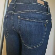 Joie Women's Sz 25 Super Stretch Skinny Crop Blue Jeans Photo