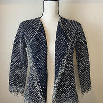 Joie Womens Tweed Black Blazer Open Front Jacket Size  Xs Photo