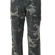 Joie Womens Camouflage Print Pants Green Brown Cotton Size 29 Ll19ll Photo